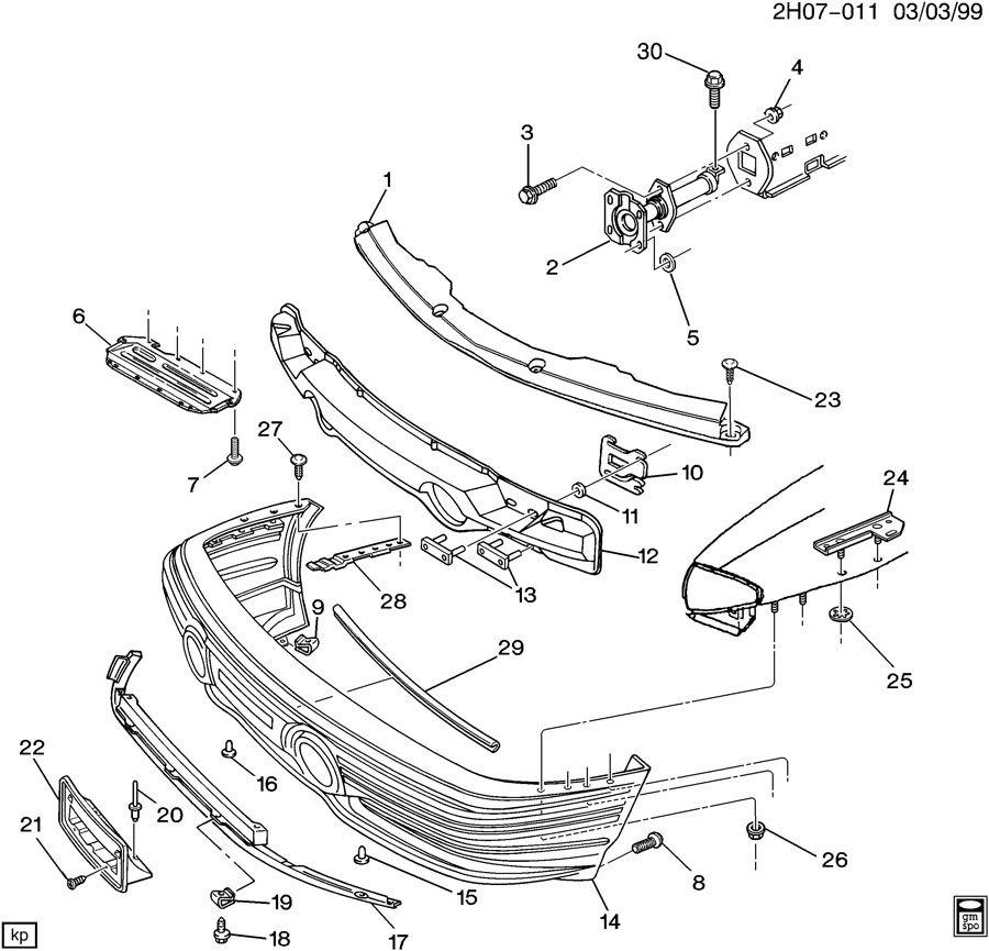 service manual  how to remove front bumper 1997 pontiac bonneville