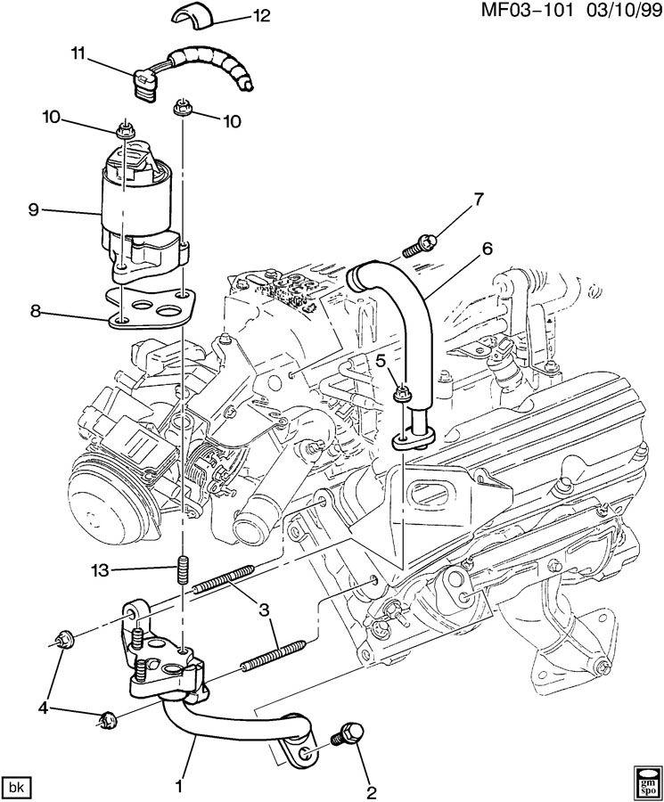 1998 Pontiac Firebird E G R Valve Amp Related Parts