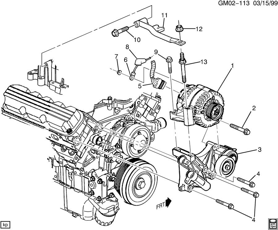 2004 Chevrolet Impala Ls 4dr Generator  Engine Electrical