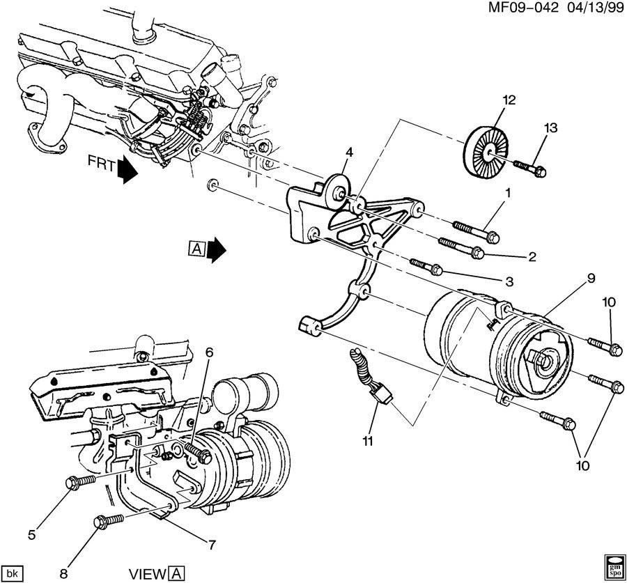 2002 camaro strut diagram