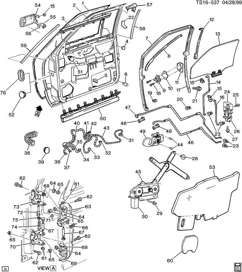 1995 Chevrolet Blazer Regulator  Door And End Gate Window
