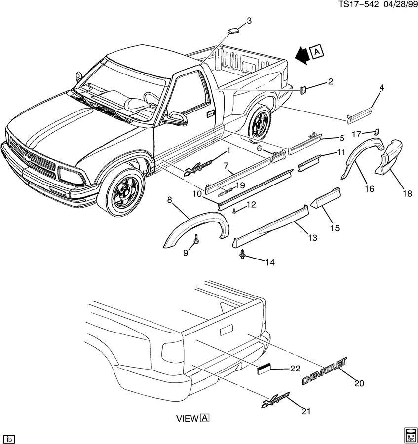Chevrolet S10 Extension  Rear Bumper Step  Extension  Rr