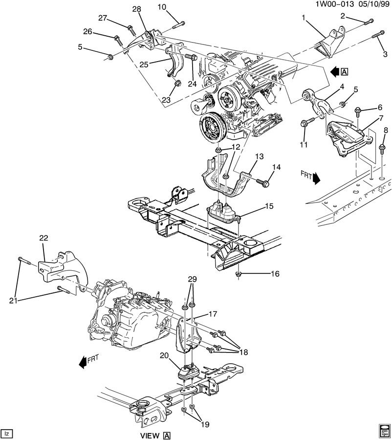 1999 chevy lumina motor diagram