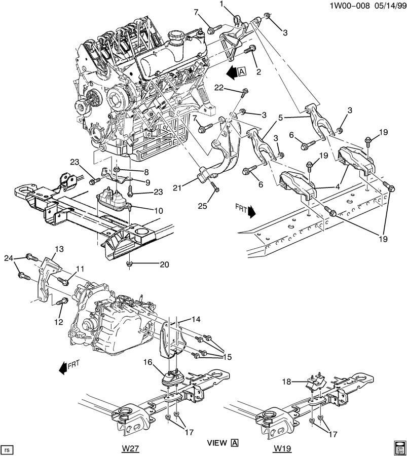 Chevrolet Impala Bracket  Air Conditioning  A  C