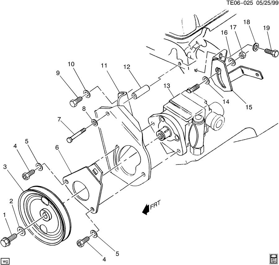 15609255 gm pulley power brake booster ross nxw. Black Bedroom Furniture Sets. Home Design Ideas