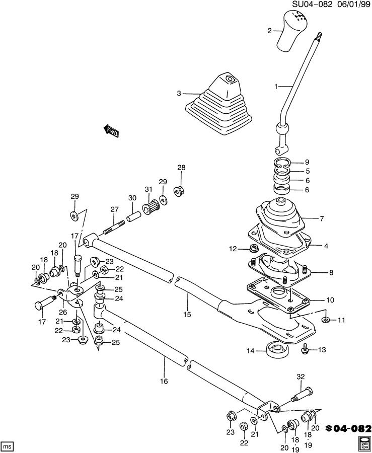 service manual  diagram of transmission dipstick on a 1997 geo tracker