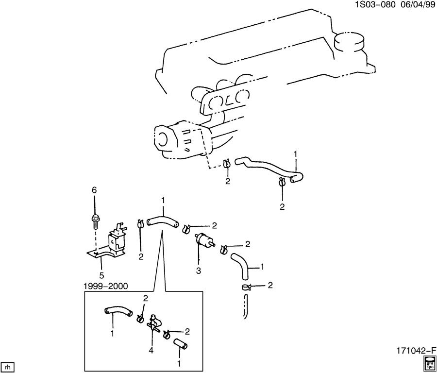 2003 pontiac vibe vapor canister lines purge solenoid valve