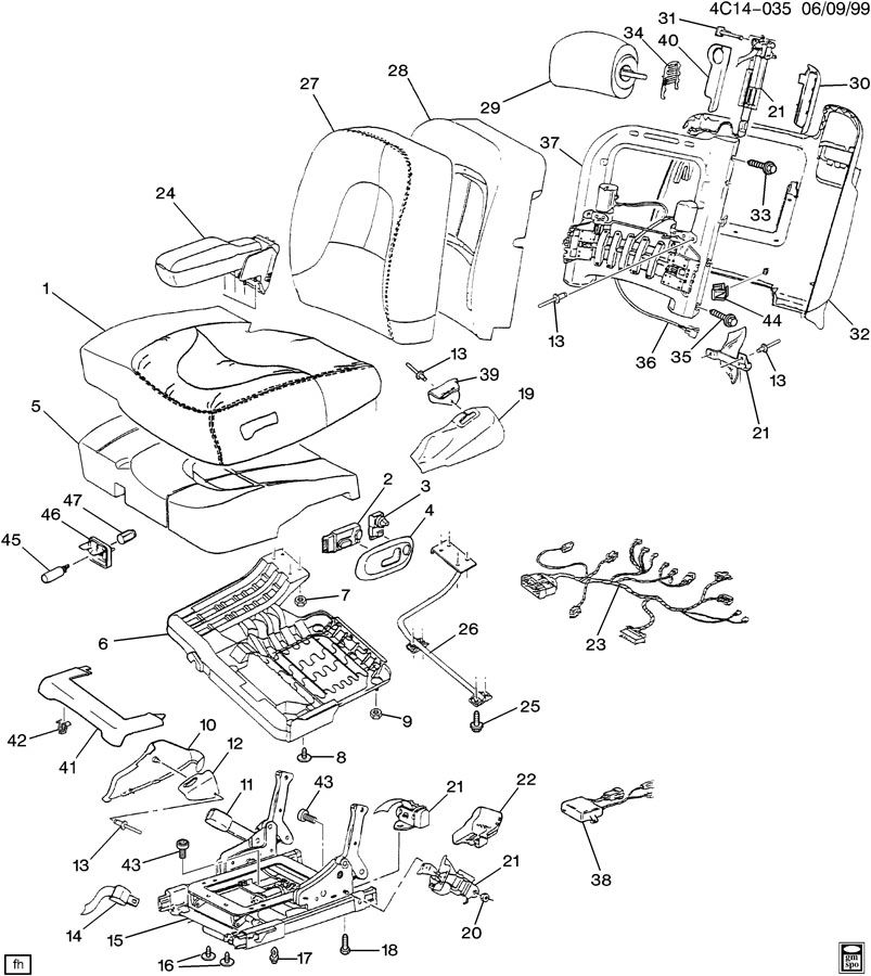 Diagram SEAT ASM/DRIVER for your 2010 Chevrolet Impala