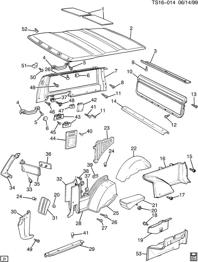 buick rainier interior parts diagram