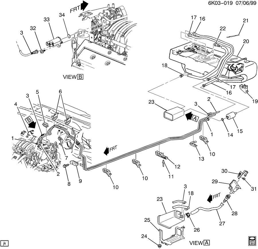 diagram of 04 cadillac deville