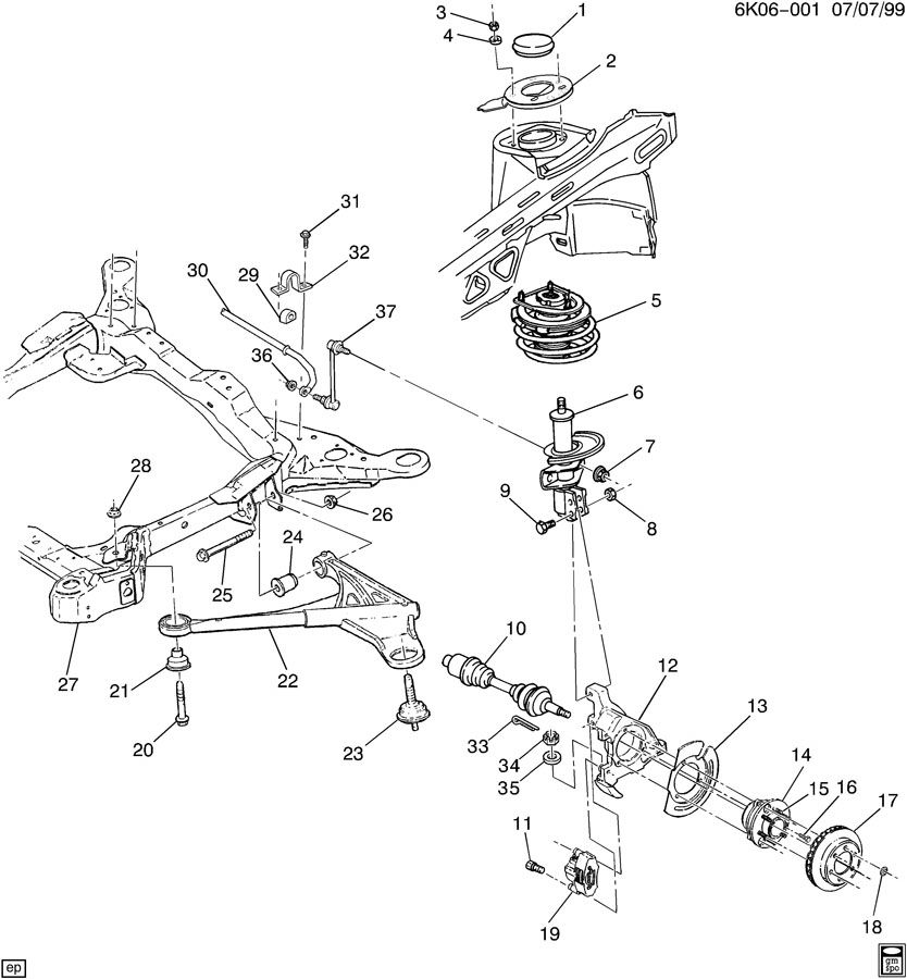 smart fortwo suspension diagram
