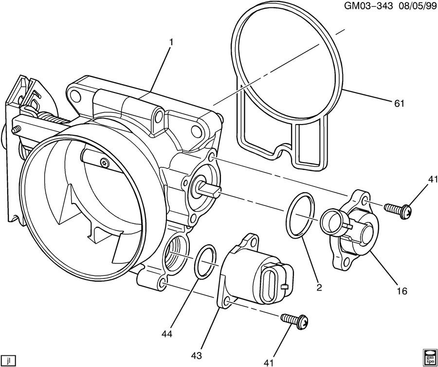 cadillac throttle body