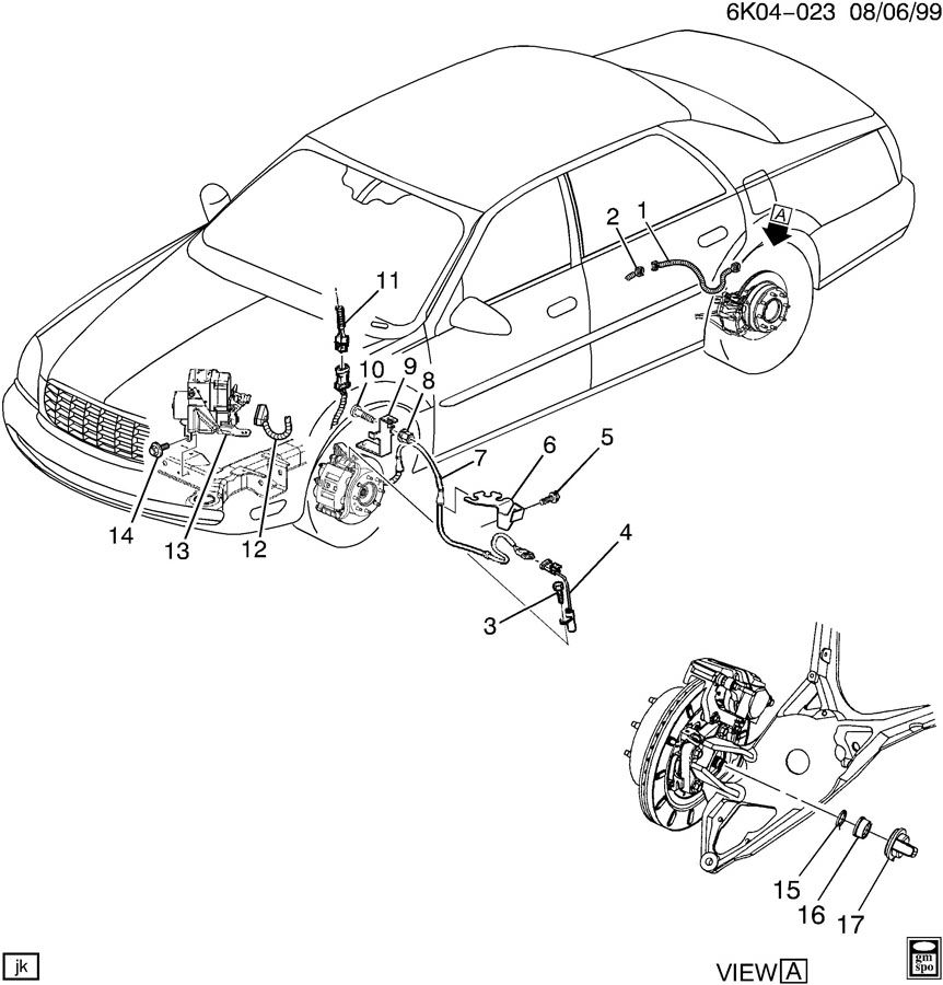 Cadillac Deville Brake System  Antilock