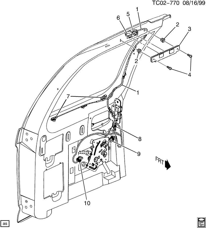 cadillac escalade wiring harness rear door rh. Black Bedroom Furniture Sets. Home Design Ideas