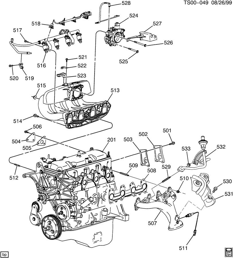 Chevrolet S10 Cover  Emission Control System  Coveregr