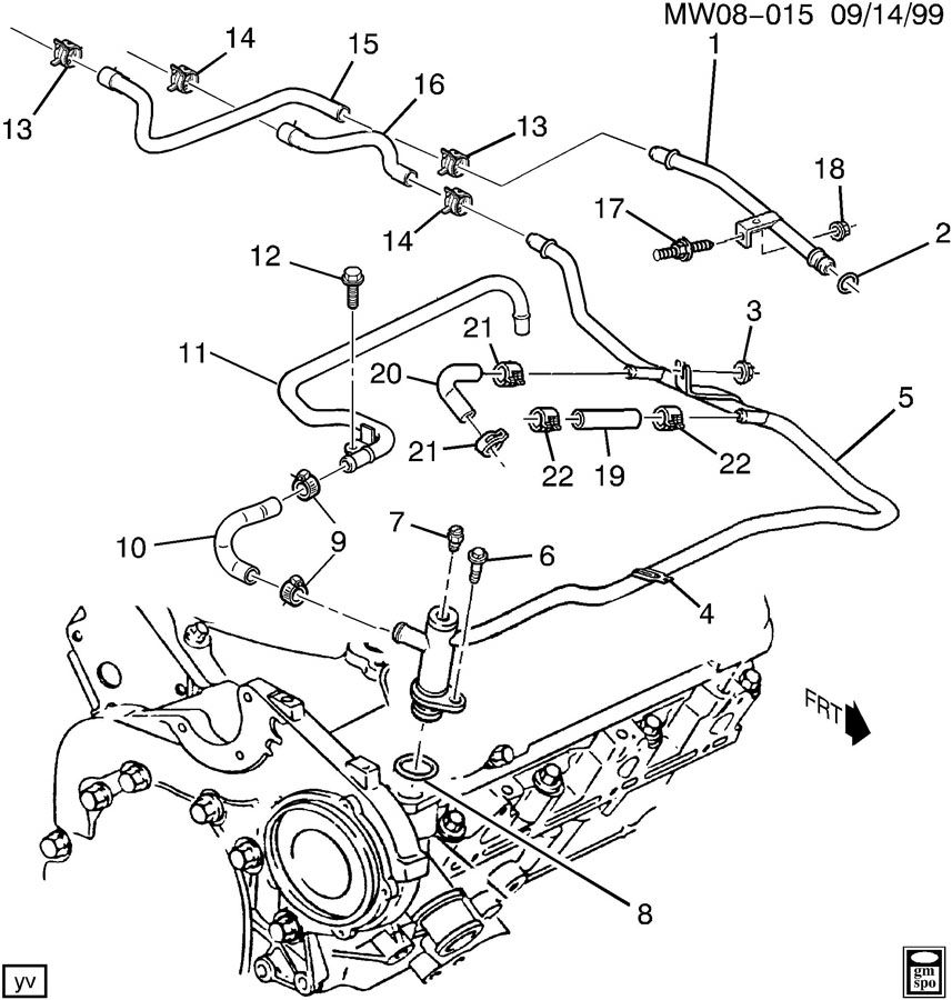 2005 chevy impala cooling system parts diagram  u2022 wiring