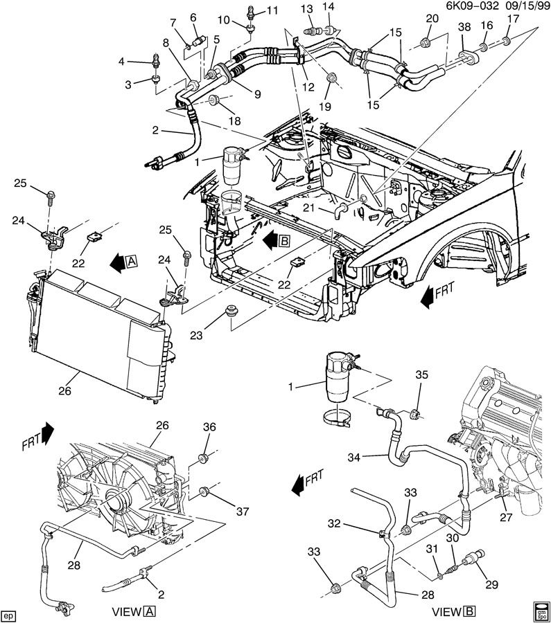 cadillac cts blower motor location