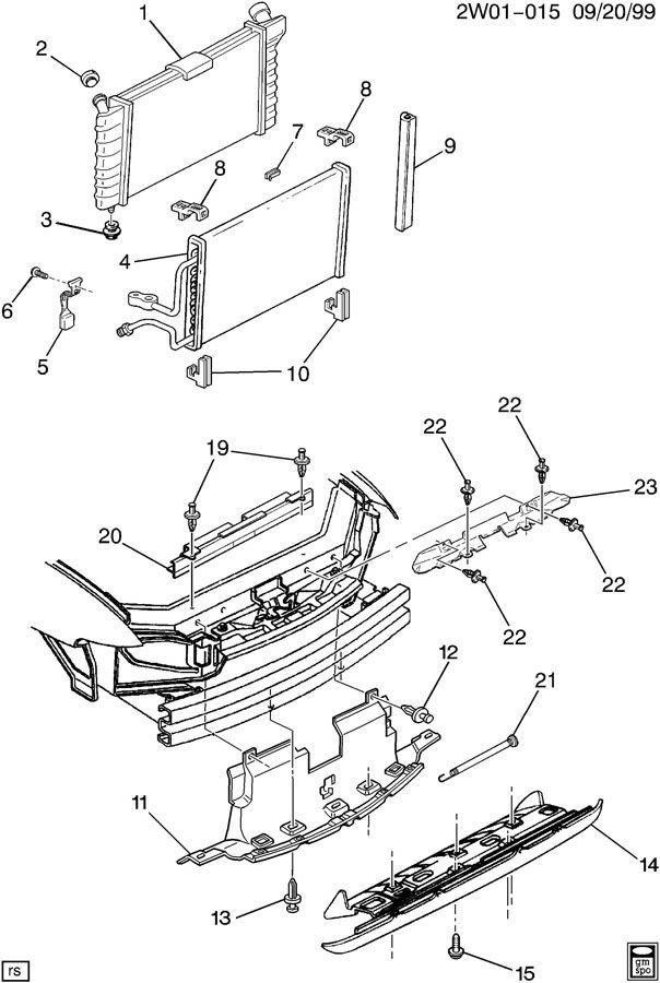 1999 pontiac grand prix radiator mounting  u0026 related parts