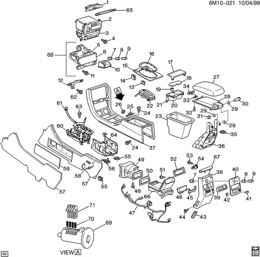 service manual  1997 cadillac deville console removal