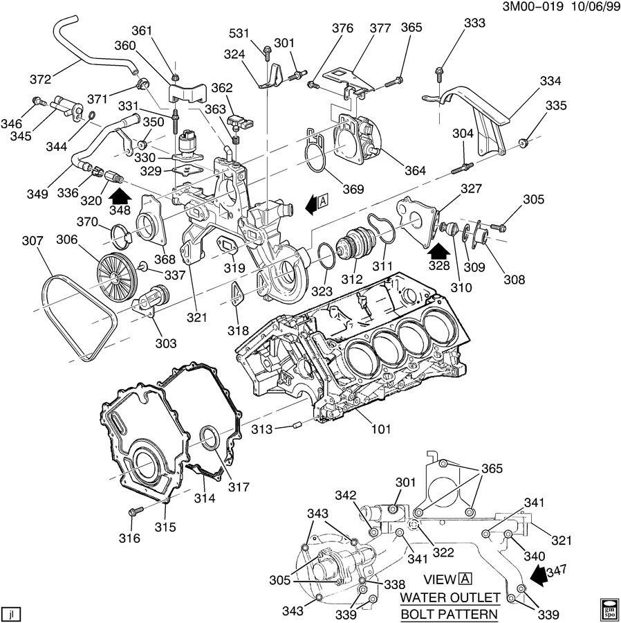 1996 cadillac deville engine asm
