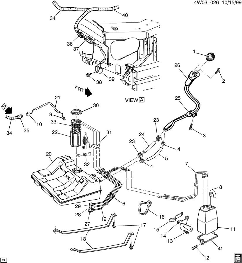 service manual  1997 buick century gas tank removal