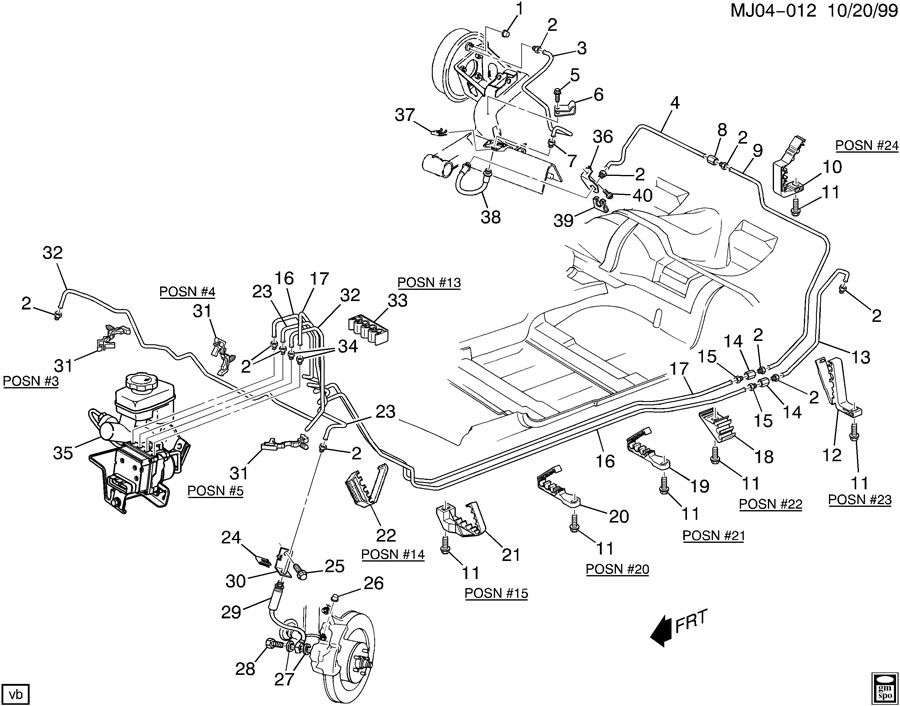 Wiring Diagram  35 2001 Chevy Tahoe Brake Line Diagram