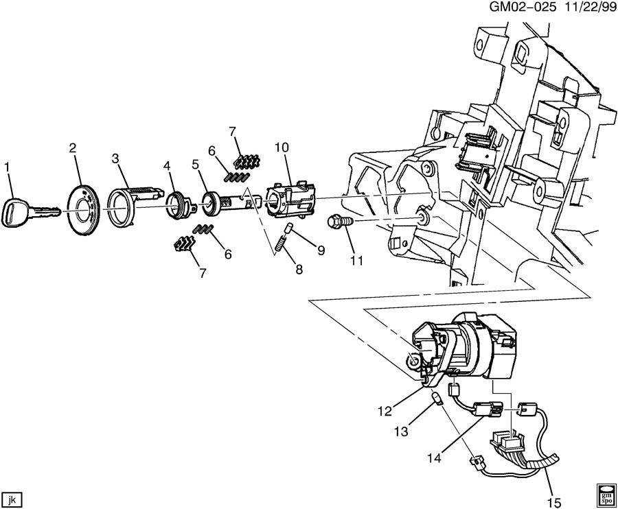 2000 pontiac bonneville ignition switch replacement