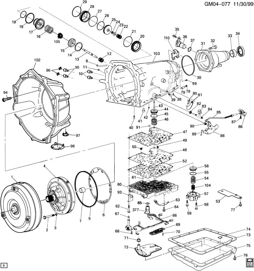 2002 Dodge Ram 1500 Transmission Diagram together with Transmission Line Drawings as well Nvg246 Transfer Case Connectors 417501 in addition Auxiliary Cooler Line Position as well Chevy Transmission Identification Diagram. on 4l80e transmission parts