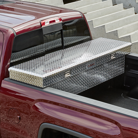 19170990 gm cross bed aluminum tool box with bowtie and