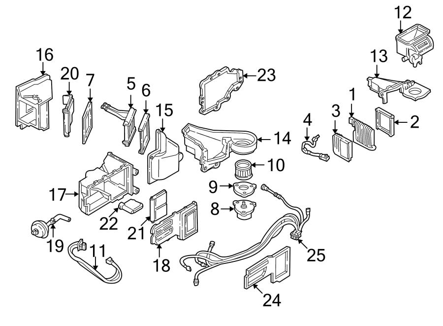 1999 Pontiac Formula 2dr Hvac Unit Case  Rear  Rear Heater
