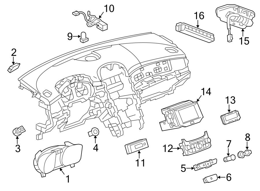 Chevrolet Malibu Cluster  Instrument Panel Gage  Cluster