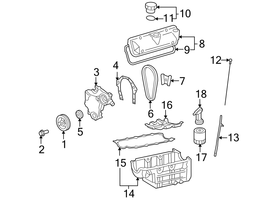 2005 Chevrolet Equinox Engine Timing Cover  3 4 Liter  Equinox  Torrent