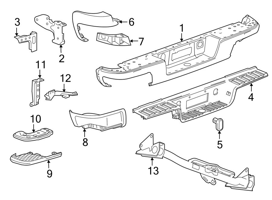 2016 chevrolet colorado bumper step pad  corner pad