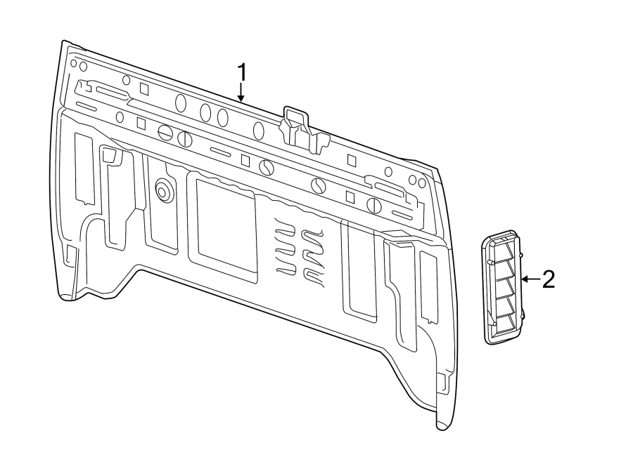 panel 1500 gmc vent chevrolet silverado pressure sierra valve quarter parts air cab rear body grille regular diagram gm crew