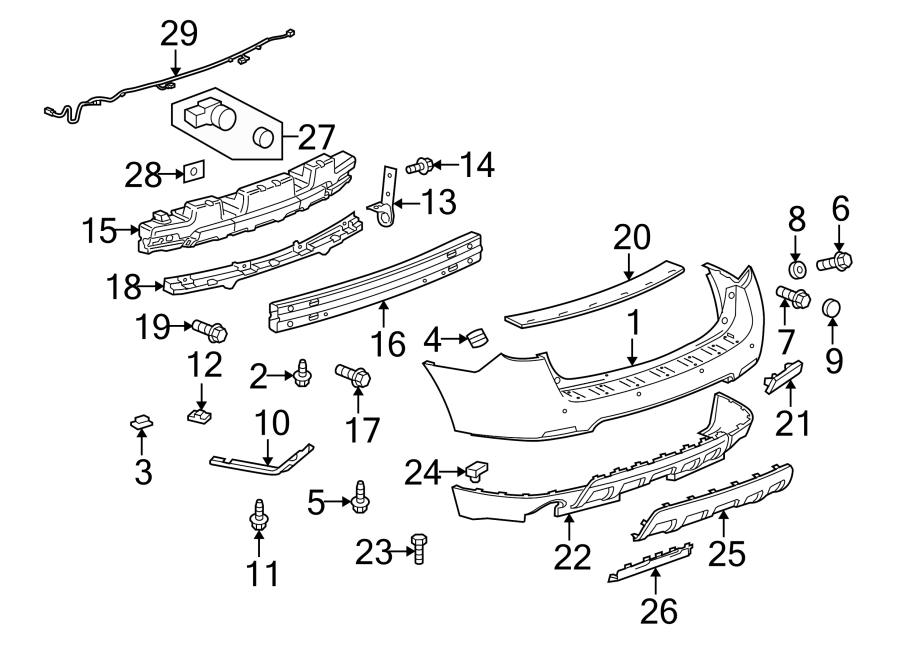 Chevrolet Equinox Sensor kit Front and rear bumperfascia