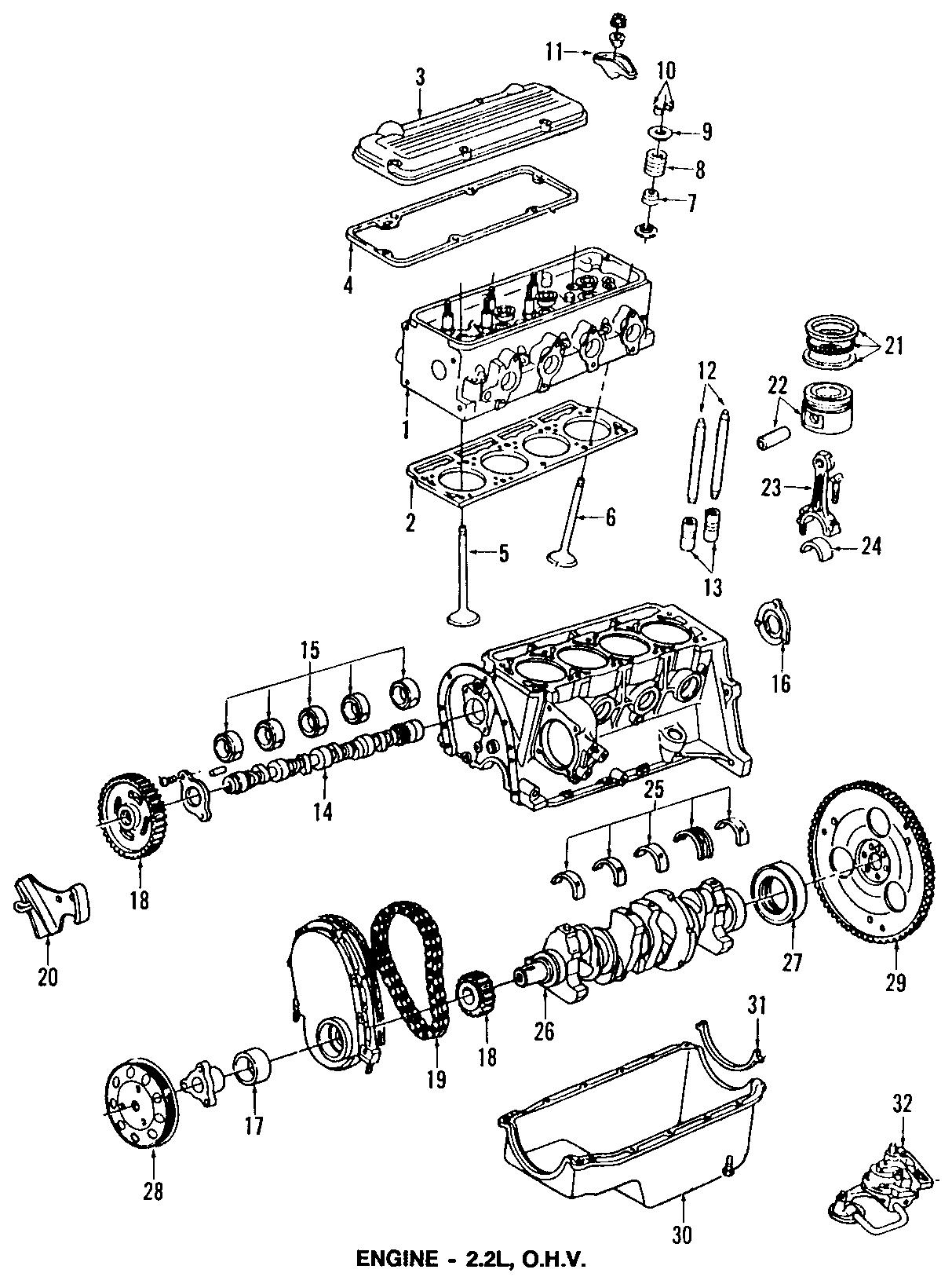 Chevrolet S10 Gasket  Engine Camshaft  U0026 Balance Shaft Hole  Gasketcmshf