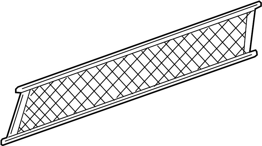 10317054 Gm Net Convenience Rear Compartment Trim Net