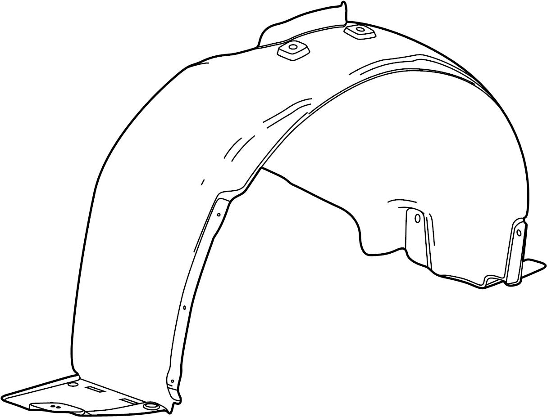 chevrolet cruze liner front fender inner wheel house. Black Bedroom Furniture Sets. Home Design Ideas