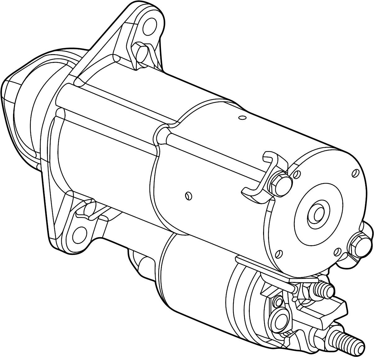 chevrolet cruze starter  starter motor  starter   acdelco