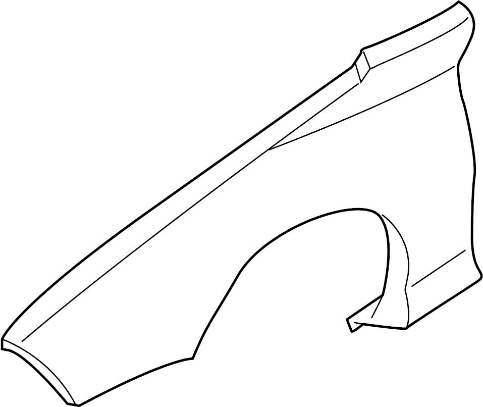 10284966 - gm fender  front fender  fender  frt