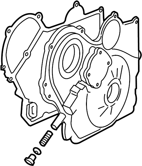 2006 Pontiac G6 Engine Timing Cover Gasket  Front