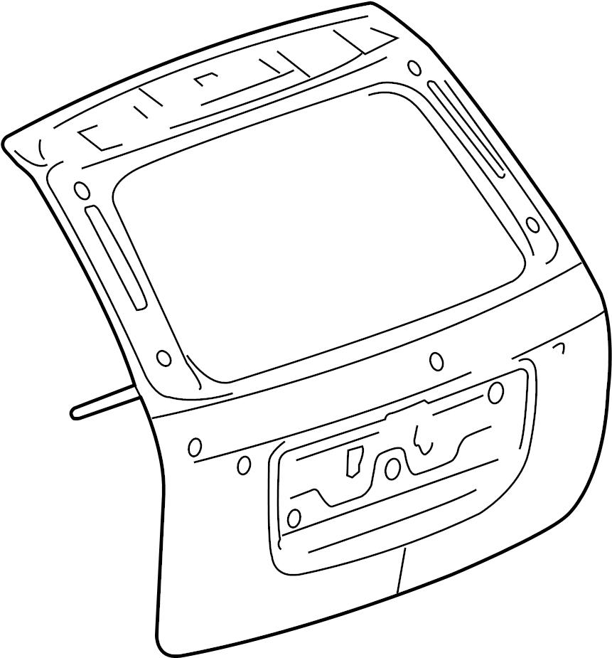 2007 chevrolet equinox liftgate hardware part 2