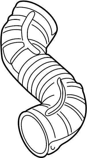 chevrolet cavalier engine air intake hose  2 4 liter