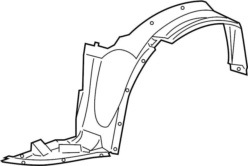 pontiac g6 shield  front fender inner wheel house  shield