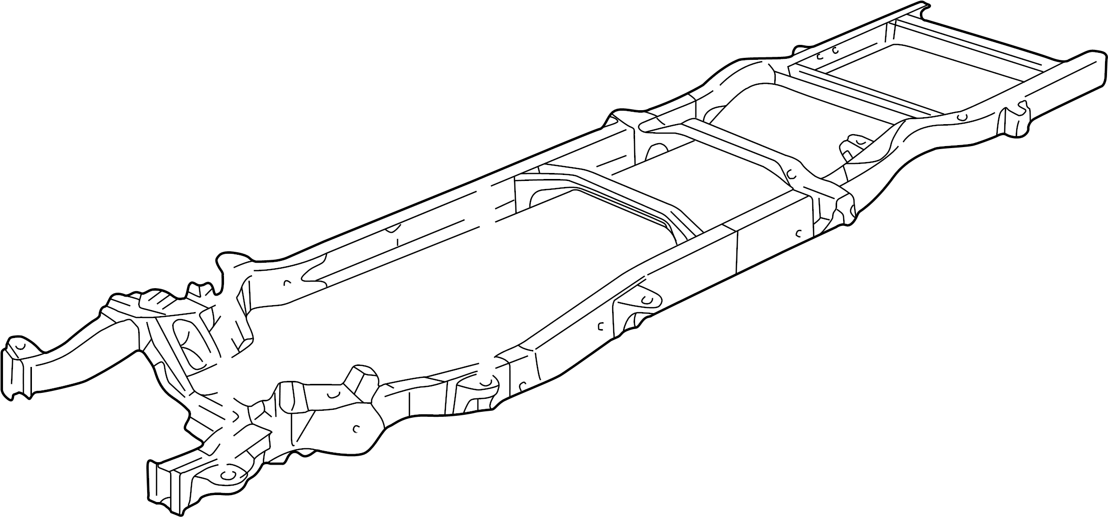 Chevrolet G20 Frame Chassis Wbcutaway 15020511