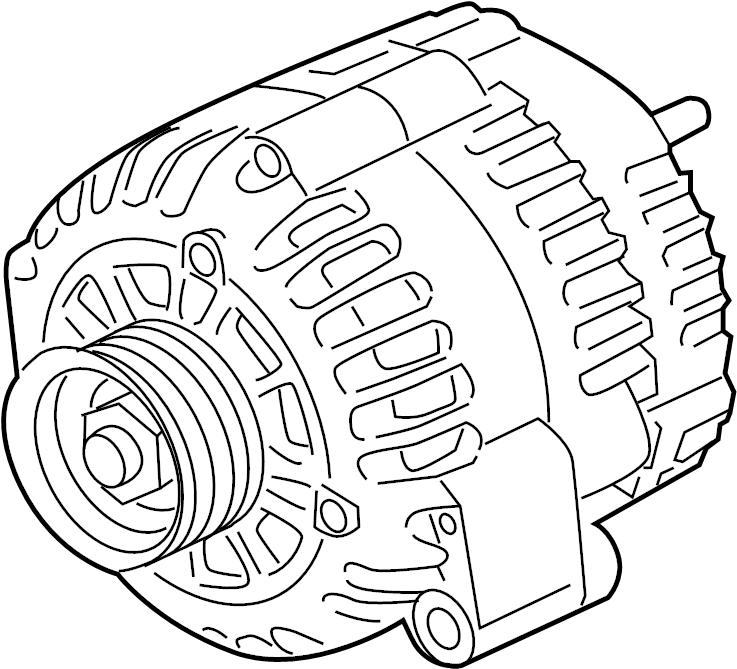 chevrolet colorado generator  engine electrical  wire