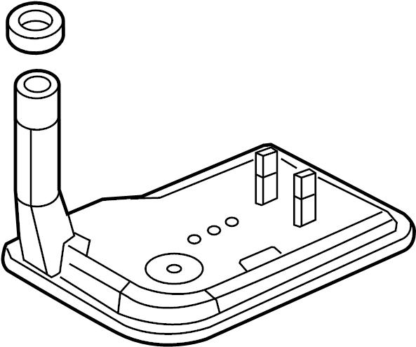 2009 cadillac cts filter kit  oil pan pump suction
