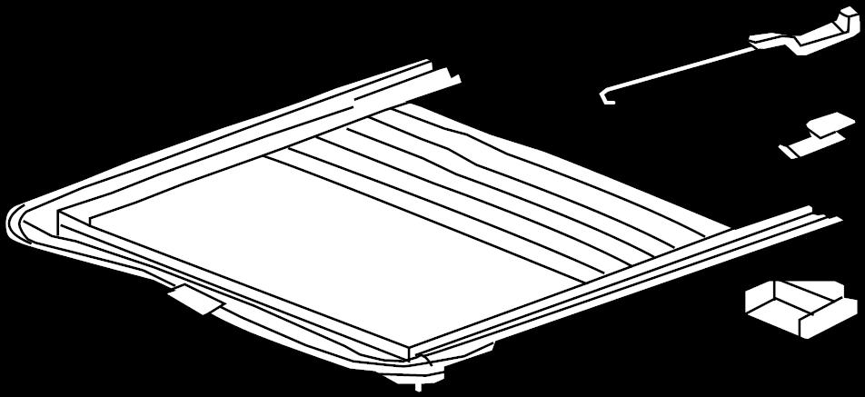 2010    GMC       Sierra    Frame Roof panel Frame  sun rf wo motor