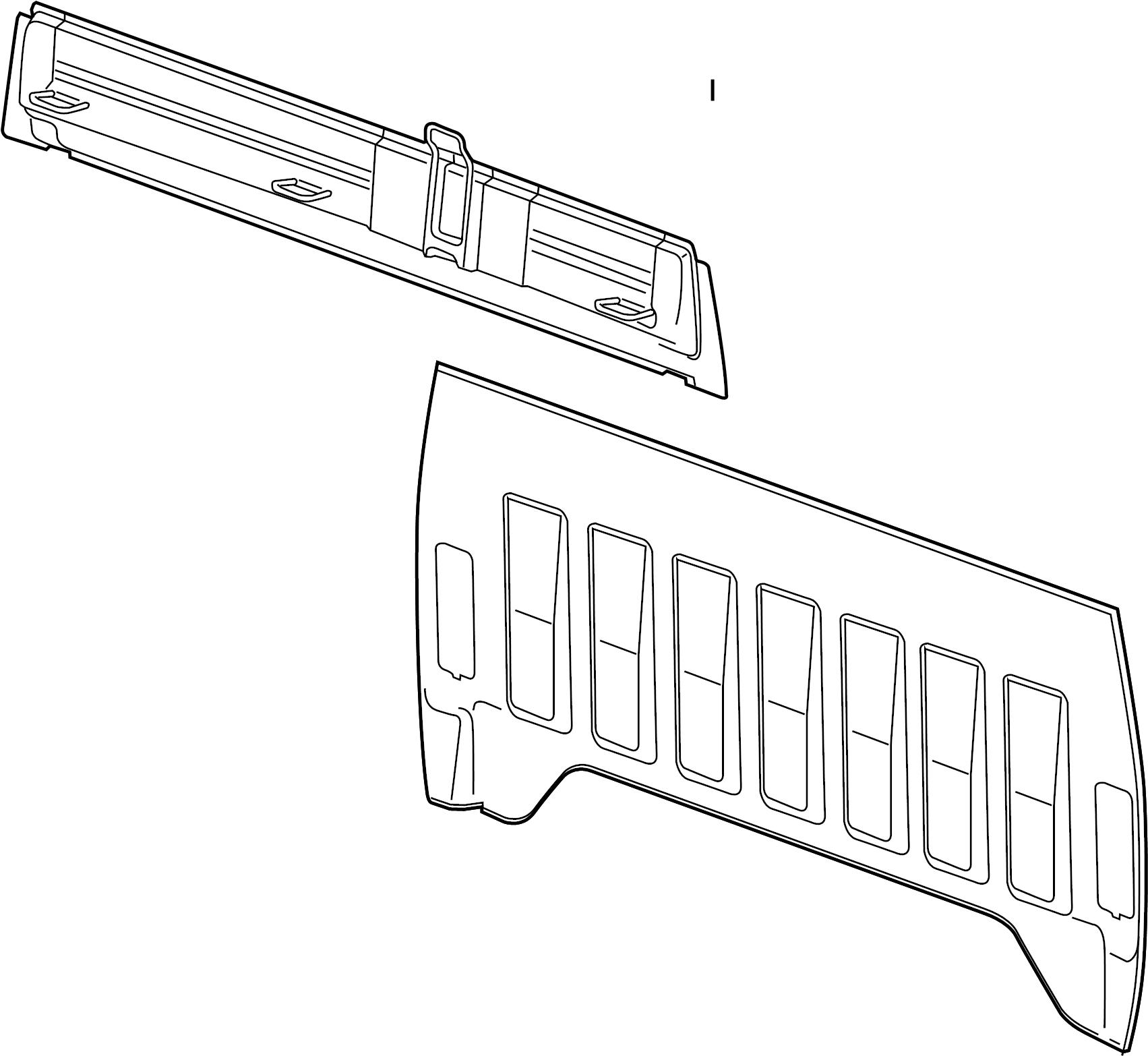 25881711 Gm Panel Rear Body Outer Panel Body Rr Otr W
