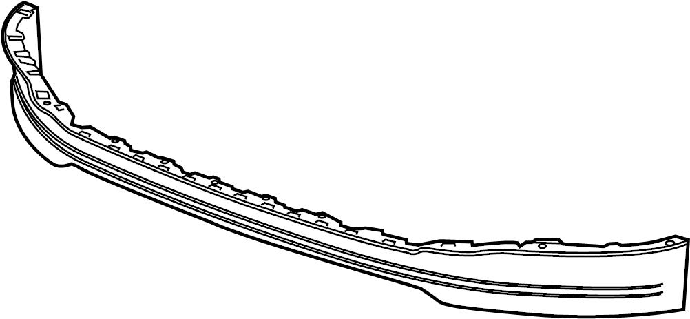 22764087  Fascia  Deflector  Frt